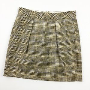 J Crew Wool Plaid Pencil Skirt Size 4